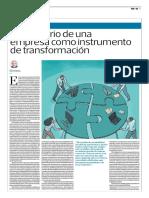 El Directorio de Una Empresa Como Instrumento de Transformación