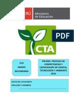 Evaluación de proceso CTA - 5°