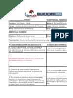 formato para acuerdos de niveles de servicios entre empresas