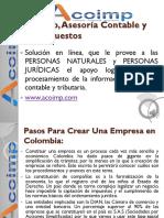 Pasos Para Crear Una Empresa en Colombia Sas Acoimp