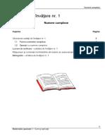 Matematici Speciale - Curs Şi Aplicaţii (Numere Complexe)