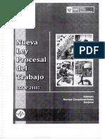 Los Medios de Prueba en La Nueva Ley Procesal Del Trabajo, Febrero 2012