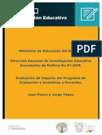 Nota-tecnica-impacto Del Incentivo Economico a Docente MINEDUC - J PONCE J YEPEZ - 2018