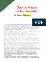 Gann's Master Time Factor, Flanagan