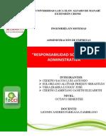 Responsabilidad Social y Ética Administrativa Trabajo Grupal 8