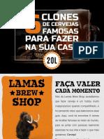 Book 6 Receitas de Cerveja Famosas Para Fazer Em Casa Lamas Brew Shop