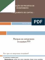 Aula 4 - Orçamentos de Capital