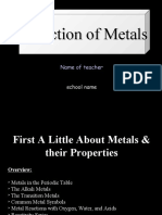 Extarction of Metals and Some Background