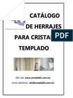 Catalogo de Herrajes Para Cristal