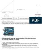 Automatic Water Level Indicator and Controller Using Ultrasonic Sensor (HC-SR04) - HUB360