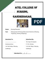 Management of Nursing Educational Institution