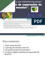 Metodos de Separacion de Mezclas, 6to
