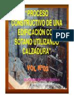 Proceso Constructivo - de Una Edificación Con Sótano Utilizando Calzadura
