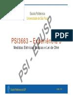 Psi3263-Exp3 - Lei de Ohm