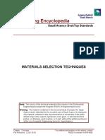 Materials Selection Techniques
