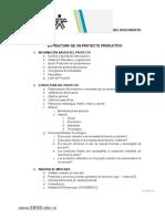 Proyecto Productivo Estructura 2019