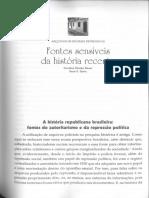 BAUER, Caroline Silveira - Arquivos de Regimes Repressivos, Fontes Sensiveis Da História Recente