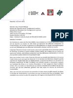 Lettre adressée au ministre de l'Éducation par la Commission scolaire et les syndicats