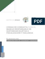 Código de conducto para manejo de sustancias catalogadas - Ecuador