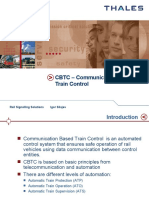 CBTC Communication Based Train Control
