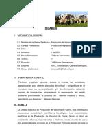 SILABUS de Produccion de Vacunos de Carne