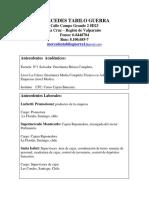 Curriculum Vitae Mercedes