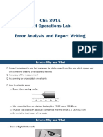 Error Analysis and Report Writing
