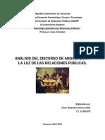 Analisis Del Discurso de Angostura y RRPP