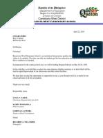 Brigada Eskwela Solicitation Letters