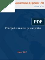 Boletin20 Principales TrámitesDeExportacion