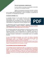 ANÁLISIS DE LOS TIPOS DE SOCIEDADES COMERCIALES 01.docx
