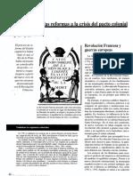 De las reformas a la crisis del pacto colonial