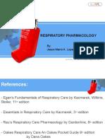Respiratory Pharmacology 1.2