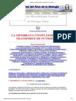 Membrana Citoplasmática y Transporte de Nutrientes