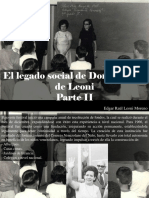 Edgar Raúl Leoni Moreno - El Legado Social de Doña Menca de Leoni, Parte II