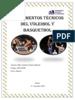 Fundamentos Técnicos Del Vóleibol y Basquetbol