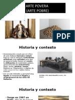 ARTE POVERA Diapositivas
