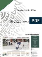 Presentación Calendario escolar 2019-2020