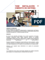 PJ DISPONE INSTALACIÓN Y FORTALECIMIENTO DE SISTEMA