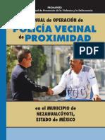 Manual de Operación de La Policia Vecinal de Proximidad Neza
