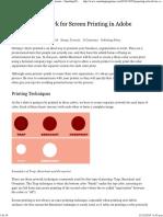 Preparing Artwork for Screen Printing in Adobe Illustrator - Smashing Magazine