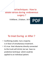 Tratamentul varicelor. Ablatia varicelor in timpul chirurgiei endovenoase | Clinica VenArt
