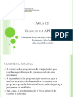 Aula 12 - Classes Da API Java