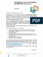 Carta de Presentación _ H&V DESARROLLO E INGENIERÍA DE PROYECTOS SAC