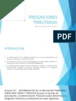 PPT PRESUNCIONES TRIBUTARIAS