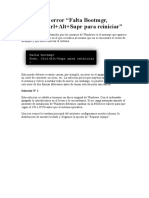 Solución Al Error Fal Ta Bootmgr en Windows 7