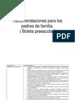 Recomendaciones Padres de Familia