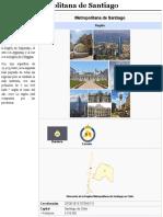 Región Metropolitana de Santiago - Wikipedia, La Enciclopedia Libre