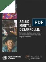 Las Personas Con Problemas de Salud Mental OMS