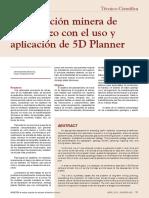 Planificación minera con el uso y aplicación de 5D Planner
